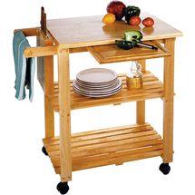Walmart: Kitchen Utility Cart, Solid Beechwood