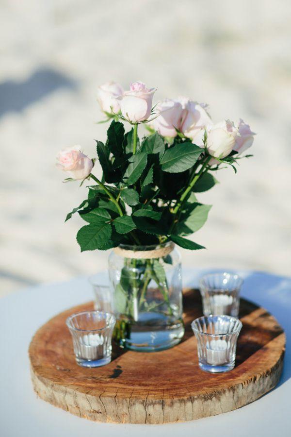 Pink Rose Table Decor | White Images Photography on @polkadotbride via @aislesociety