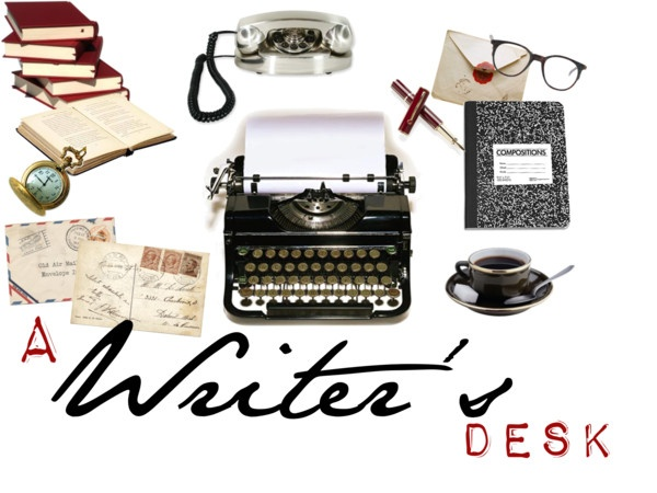 """""""A Writer's Desk"""" by onceuponanovel on Polyvore"""