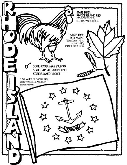 Epic Crayon Coloring Pages 73 Rhode Island State Symbol