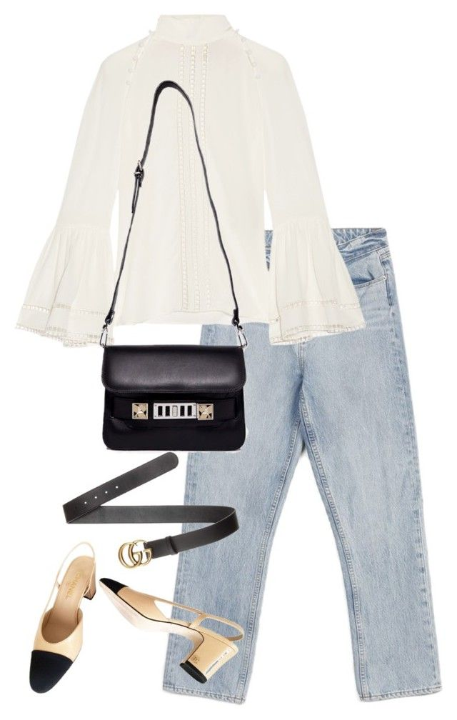"""Untitled #4435"" by theeuropeancloset on Polyvore featuring Paige Denim, Fendi, Chanel, Proenza Schouler and Gucci"