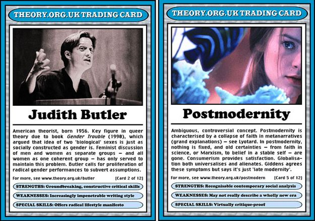 Literary theory top trumps, out now kids!