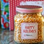 Cinnamon sugar popcorn for gift giving. I love this idea!!!