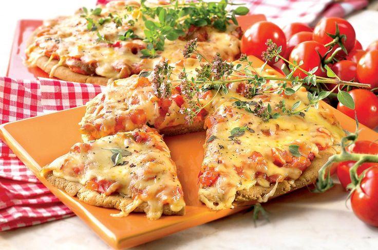 Pizza mediteraneană   Retete culinare - Romanesti si din Bucataria internationala