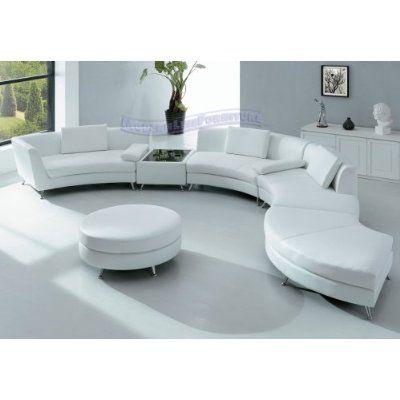 Modern Sectional Sofa - White
