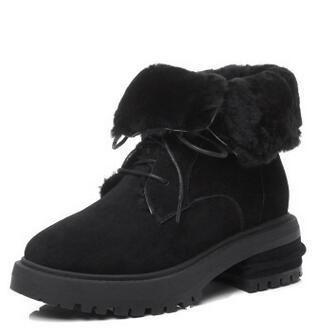 <b>Prova Perfetto women</b> snow boots black suede leather round toe ...