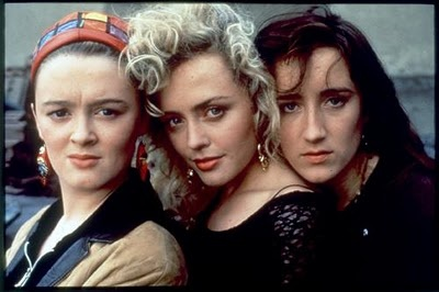 The Commitments Movie filmed in Dublin Ireland. Actresses/Singers Bronagh Gallagher played Bernie McGloughlin, Angeline Ball played Imelda Quirke & Maria Doyle played Natalie Murphy