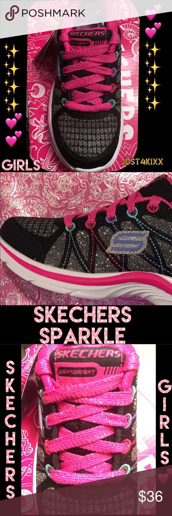New Girls Skechers Sneakers She'll ❤️ Skechers Sparkle 💕 Skechers Shoes Sneakers