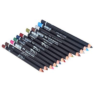 12 карандашей для подводки глаз разных цветов