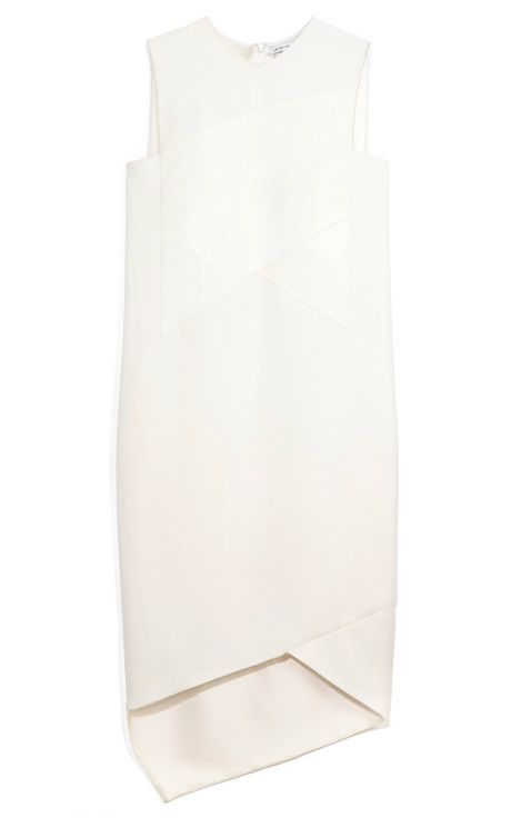 White Viscose Drape Dress by Narciso Rodriguez...love the structure