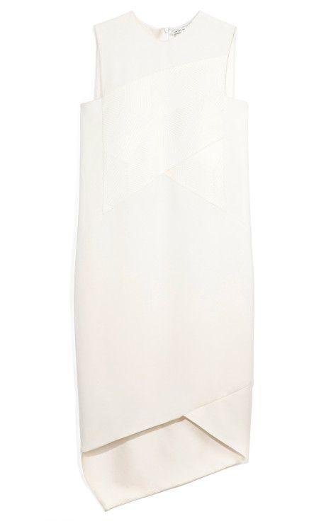 White Viscose Drape Dress by Narciso Rodriguez