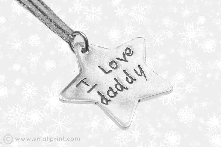 Love Letters on large star shape Christmas decoration by Smallprint. www.smallprint.co.za