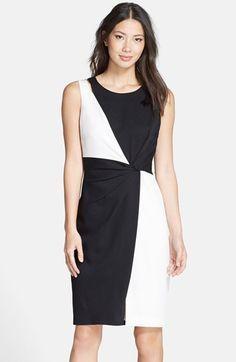 Ellen Tracy Colorblock Sheath Dress (Regular & Petite)Item #1049601 available at #Nordstrom