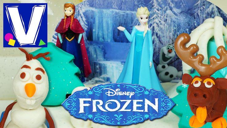 Новый набор пластилина Плей до по мотивам мультфильма Холодное сердце Дисней. Влад открывает, лепит и играет с пластилином и героями мультика. Тут и принцесс...
