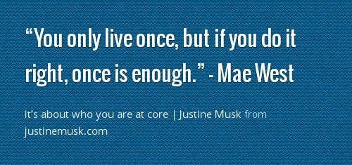 it's about who you are at core | Justine Musk