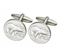 POLAR BEAR CUFFLINKS.A symbol of power and strength yet cuddly! These high quality rhodium plated cufflinks can make a very good Canadian souvenir for someone you love. Size: 19mm round http://www.stunningselection.com/polar-bear-cufflink