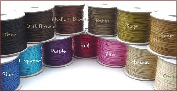 ワックスコード 1mm 細い綿ひも蝋引き紐を最安値激安割引値引き卸価格で安いアクセサリー紐を格安販売 | 卸値通販 ゼネガー