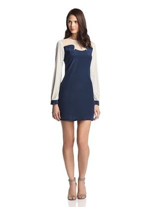 71% OFF Love & Liberty Women's Markie Silk Dress (Navy)