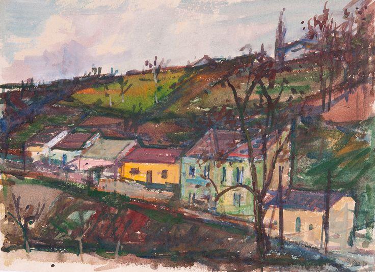 Miloš Pošar - Ulička v Podolí (1958)