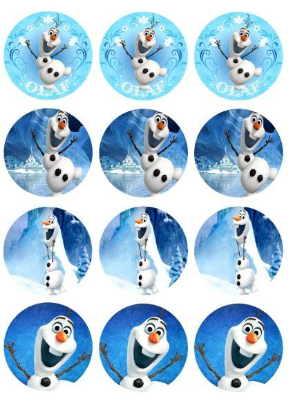 Edible Image Cupcake Toppers Frozen Olaf:Amazon:Everything Else