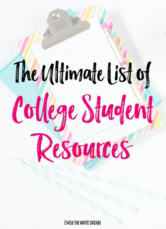 The Ultimate List of College Student Resources | College tips from around the web relating to studying, financial aid, campus life, and more!