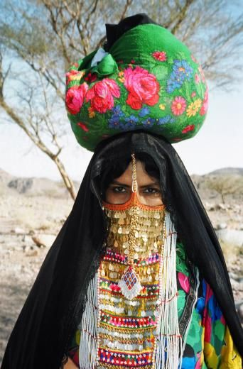 Veiled woman, South Sinai, Egypt