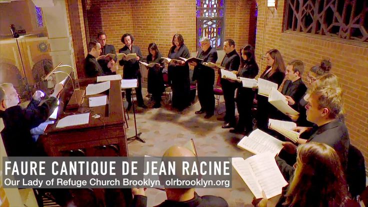 Gabriel Fauré: Cantique de Jean Racine sung by Choir at Catholic Church in Diocese of Brooklyn - YouTube