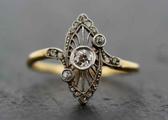 I am SO totally in love with this ring. - Antique Art Deco Ring  Vintage Diamond Art Deco by AlistirWoodTait,