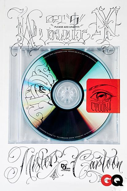 MisterCartoonKillingItAgainSwag - GQ asks its favourite artists to add graffiti to Yeezus cover