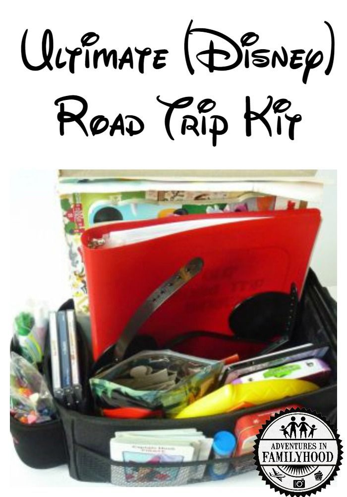 Keep your kids occupied and entertained on your family road trip to Disney or any destination with this Ultimate (Disney) Road Trip Kit | Family Trip Tips | Road Trip with Kids via @Advinfamilyhood