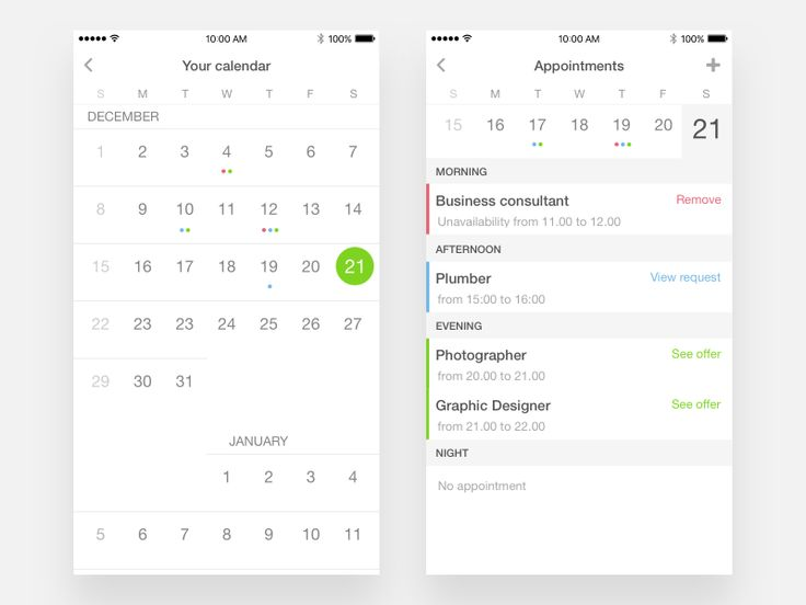 Appointments on calendar by Sebastiano Giuseppe Garilli
