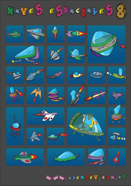 Ilustrador Alexiev Gandman: Colección de Naves Espaciales 08