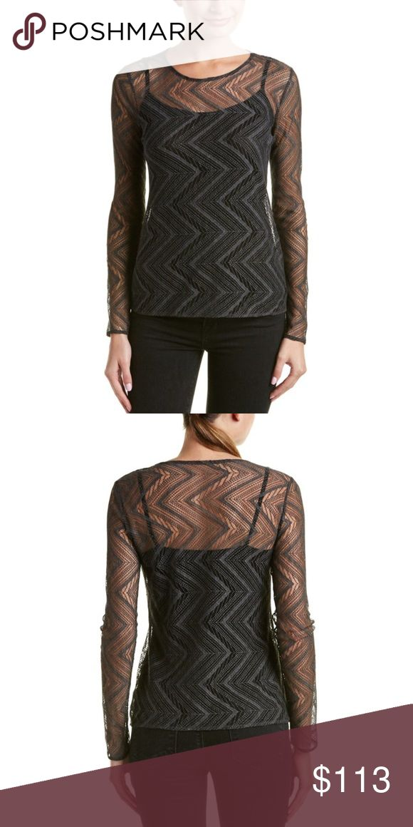 Bailey 44 Task Top Size Medium Color: Marengo Bailey 44 Color/Pattern: Marengo Design Details: Sheer Geo Lace Overlay Shell: 70% Polyurethane, 30% Nylon Contrast: 95% Rayon, 5% Spandex Dry Clean Only Made In The USA Bailey 44 Tops Blouses