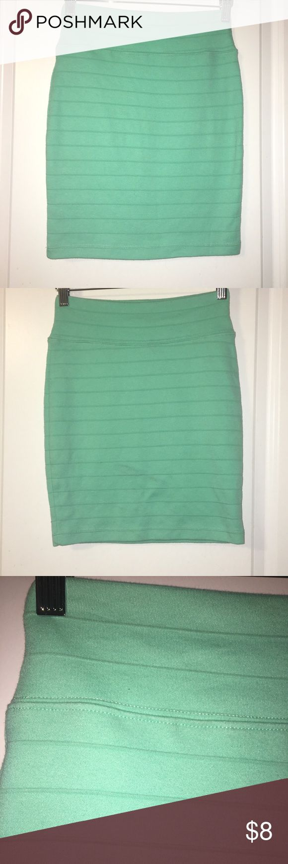 Forever 21 mint green skirt - S Mint green skirt, meant to fit tight! Super cute, can dress it up or down! Forever 21 Skirts