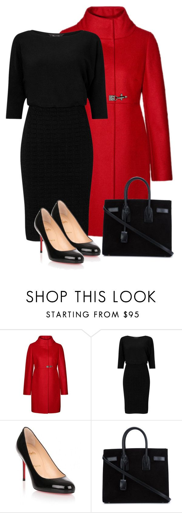 """""""Untitled 21"""" by havlova-blanka on Polyvore featuring FAY, Phase Eight, Christian Louboutin and Yves Saint Laurent"""