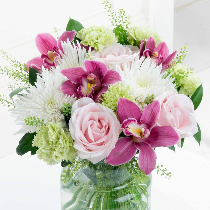 Sweet Splendour - Soft and elegant, our Sweet Splendour bouquet will make a special gift for any occasion. Perfectly pink cymbidium orchid heads contrast beautifully in this feminine arrangement.