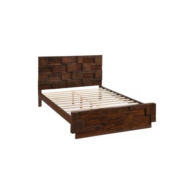 stylish and retro at the same time the san diego bed makes any bedroom a statement in design with a rich and warm walnut finish on solid rubberwood - Bed Frames San Diego