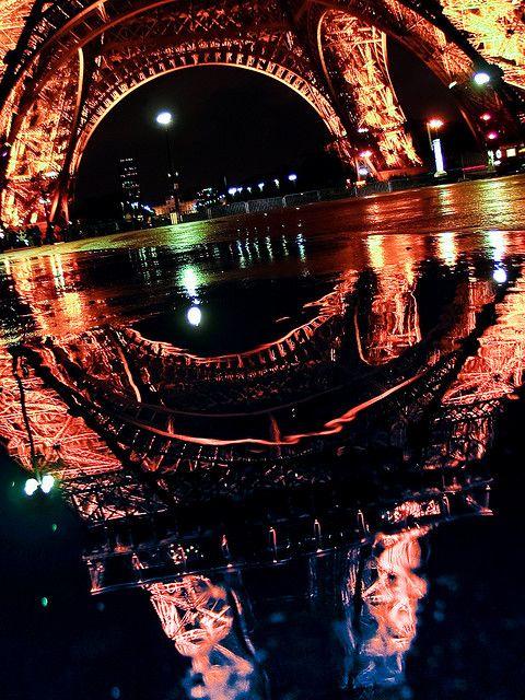 Eiffel Tower Reflection, Paris, France