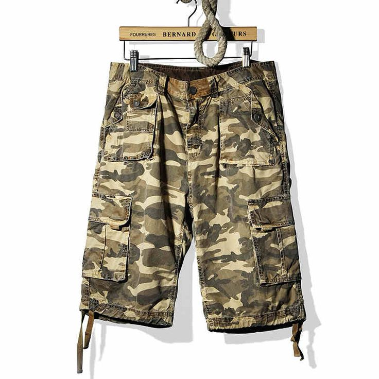 2015 Summer New Bermudas Camufladas Plus Size Casual Loose Men Shorts Military Shorts Camouflage