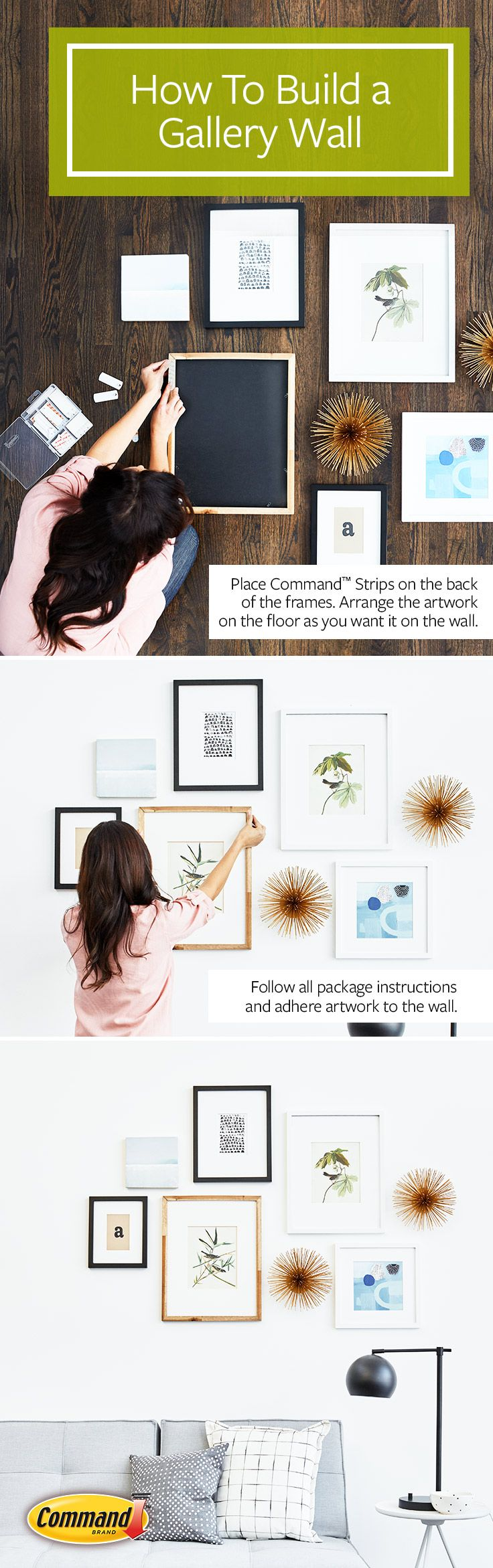 Easy Way To Hang Pictures Without Nails Part - 38: Best 25+ Picture Hanging Tips Ideas On Pinterest | Hanging Artwork, Hanging  Pictures And Family Picture Walls
