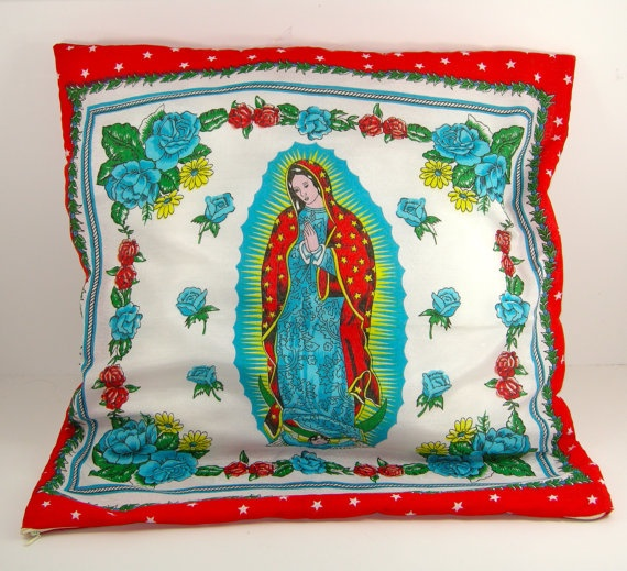 GUADALUPE PILLOWS by lasirenafolkart on Etsy, $20.00