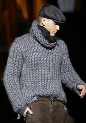 Nice sweater! Looks warm! From Dolce and Gabbana Men..