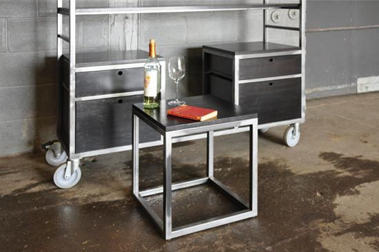 Storage Adjustable Bookcase Storage rack storage unit bookcase bookshelf loft industrial steel wood metal