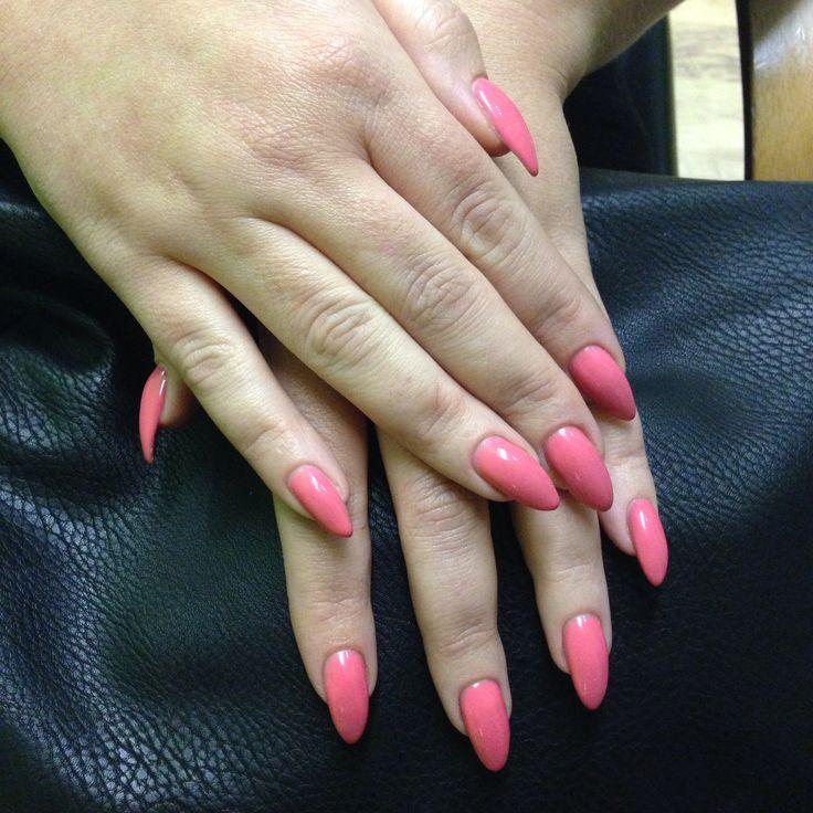 Gellux nails - colour 'Rhubarb Fool'