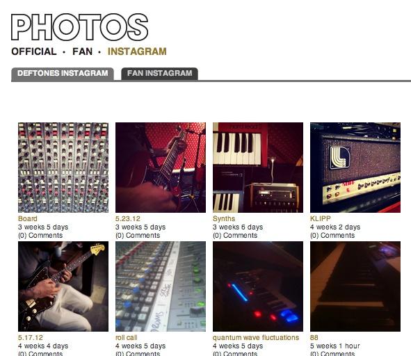 deftones x instagram    http://www.deftones.com/instagram/deftones