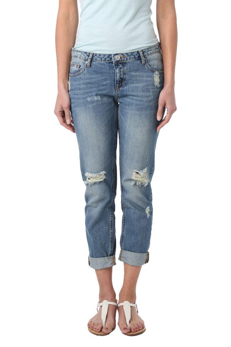 Jeans effet usé #jeans #denim #look #style