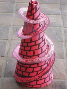 Tower of Babel - Printables for the tower and the verse...really cool!