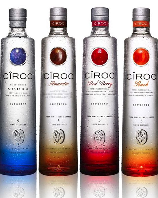 A premium brand of vodka, Ciroc is produced in France and includes some fantastic flavored vodkas.