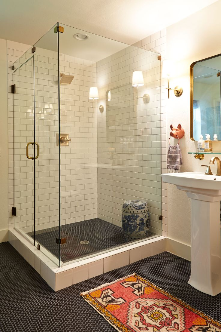 modern bathroom fountain valley reviews%0A A Traditional Meets Contemporary Home   Rue