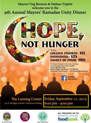 Michigan: Lansing mayors September 11 Ramadan celebration rescheduled